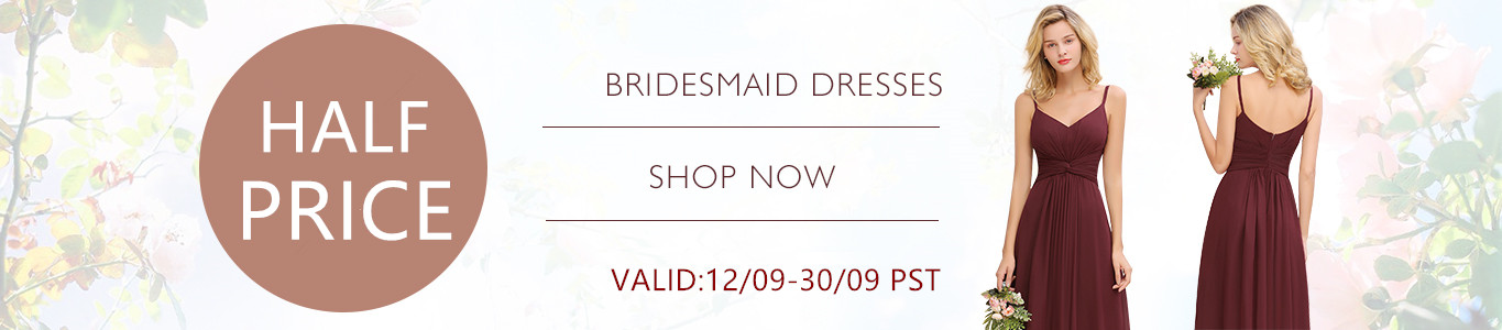 half price bridesmaid dress