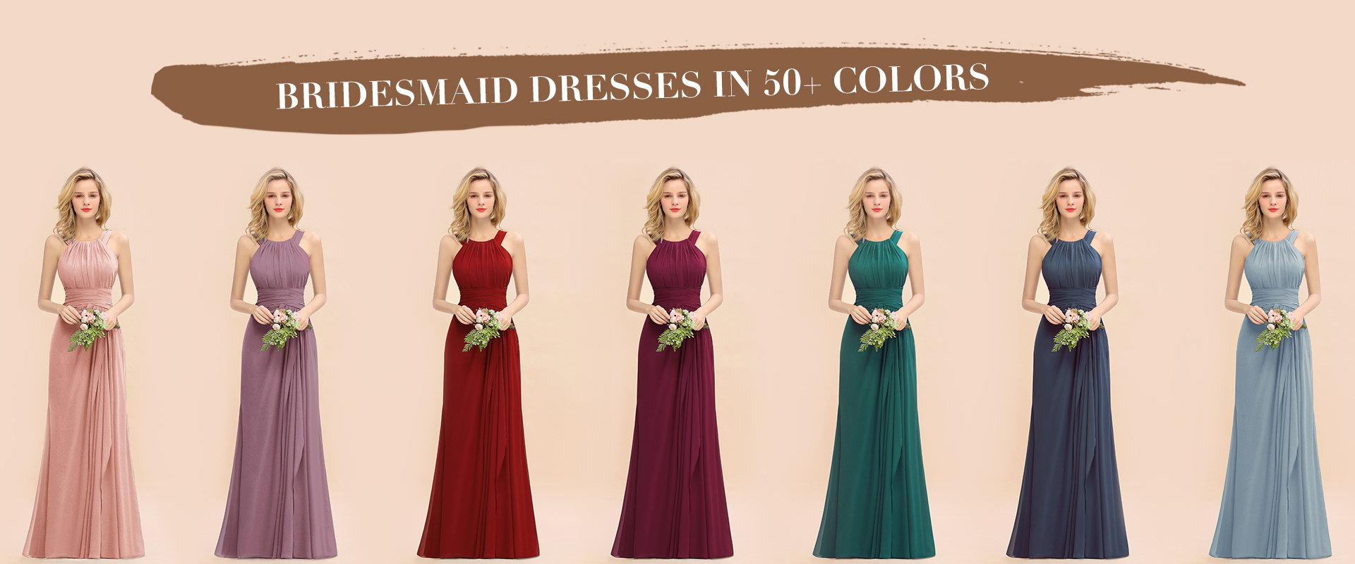 50+ colors bridesmaid dresses