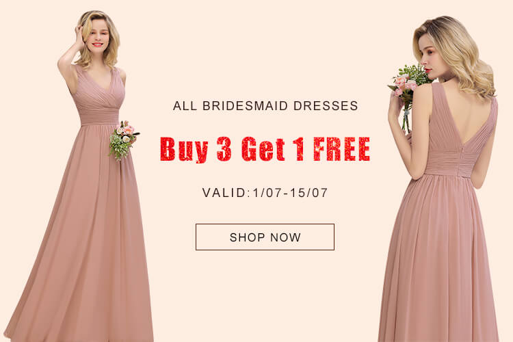bridesmaid dresses, buy 3 get 1 free