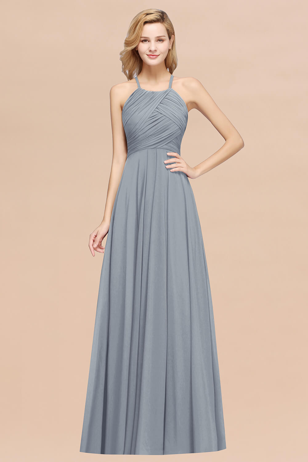dusty blue bridesmaid dress