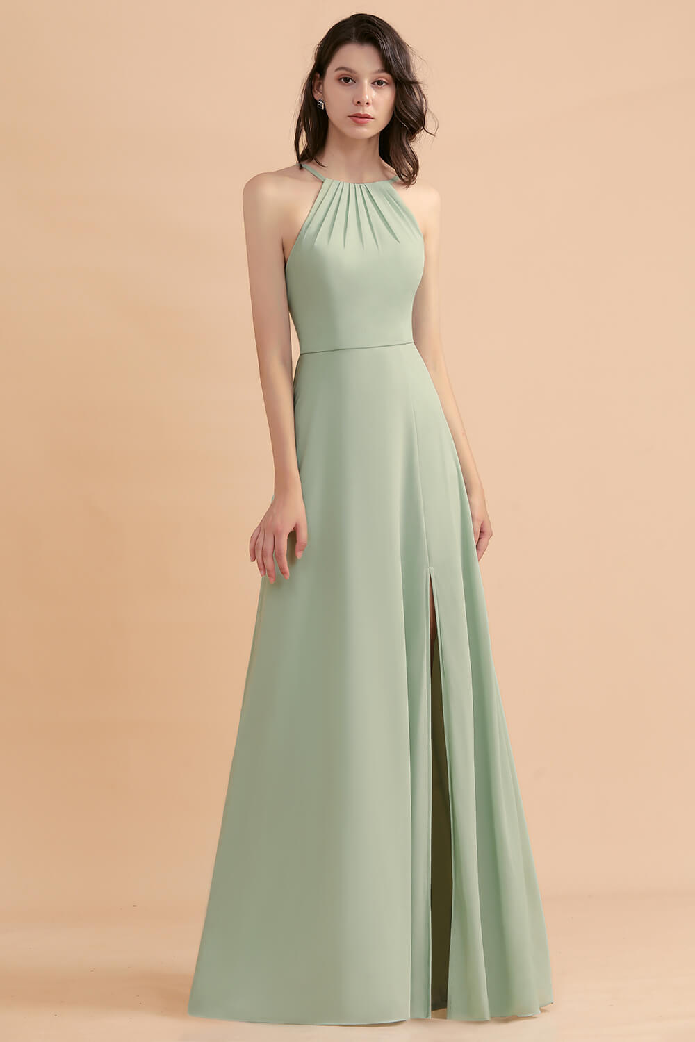 dusty sage bridesmaid dresses