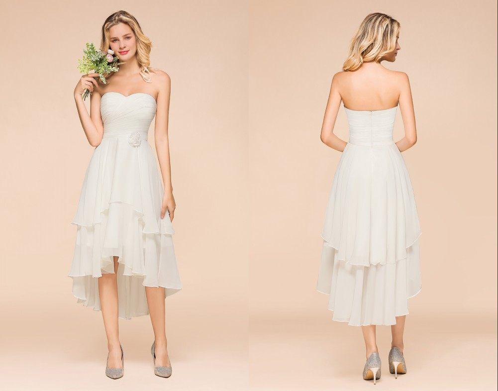 The girly style is the perfect look for your romantic wedding day! | Most Favorite Bridesmaid Dresses On Bmbridal