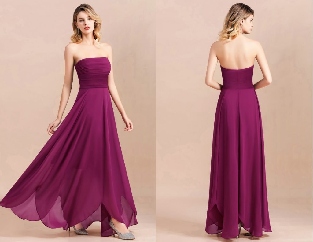 This bridesmaid dress has a petal hemline that will attract most eyes of your guests!| Most Favorite Bridesmaid Dresses On Bmbridal
