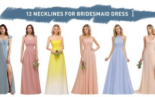 12 necklines for bridesmaid dress