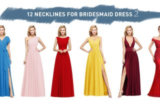necklines for the bridesmaid dresses