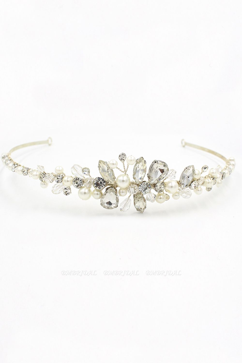 BMbridal Glamourous Alloy Imitation Pearls Special Occasion Wedding Hairpins Headpiece with Crystal Rhinestone