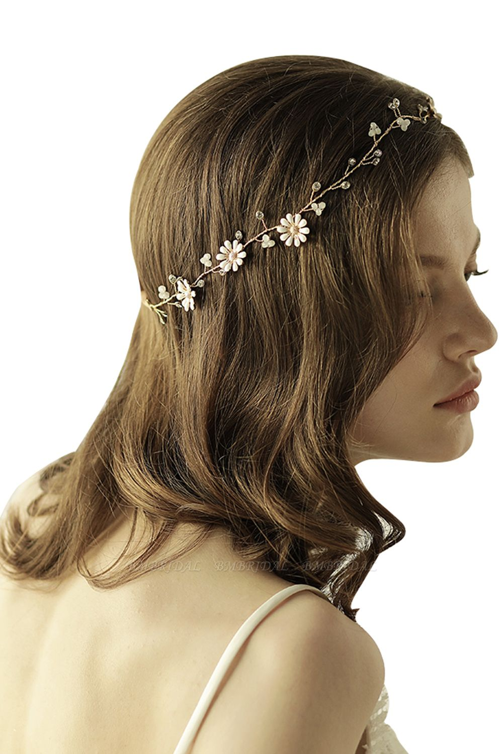 BMbridal Floral Alloy Party Headbands Headpiece with Rhinestone