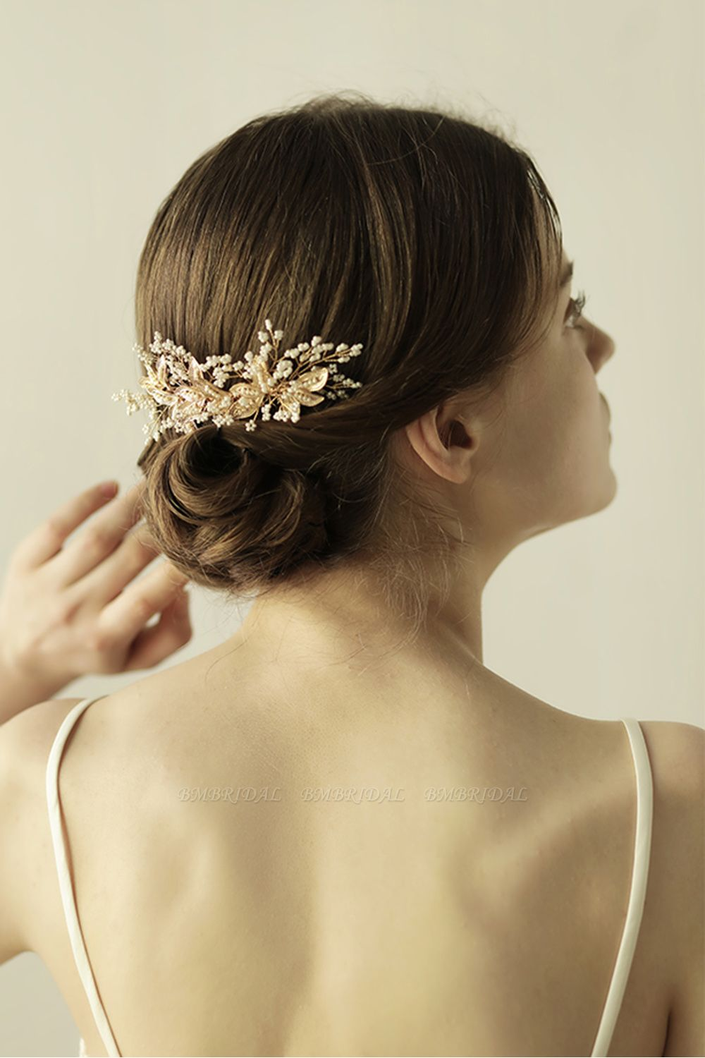 BMbridal Beautiful Alloy Daily Wear Combs-Barrettes Headpiece with Imitation Pearls