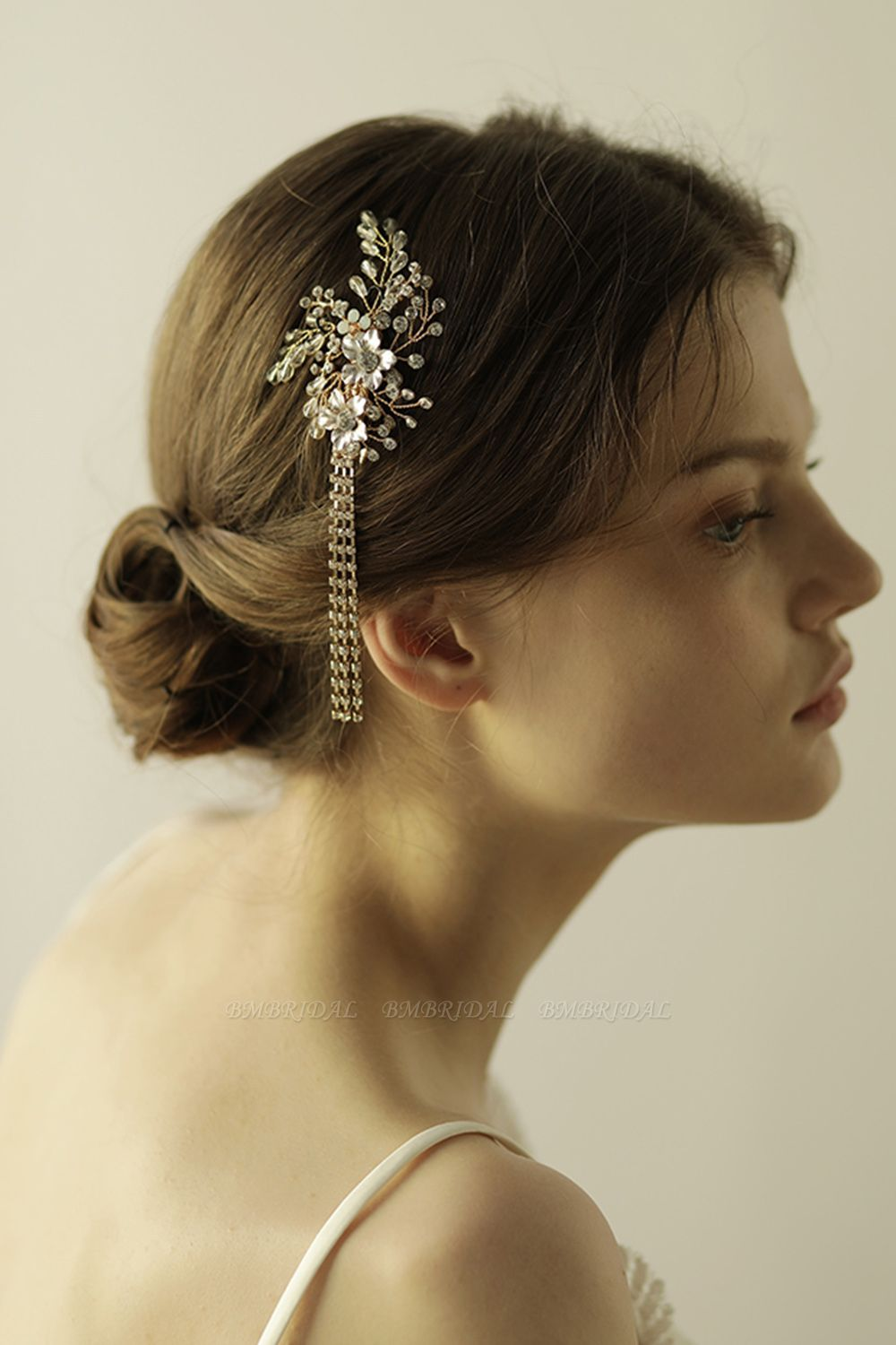 BMbridal Beautiful Alloy Special Occasion Hairpins Headpiece with Rhinestone