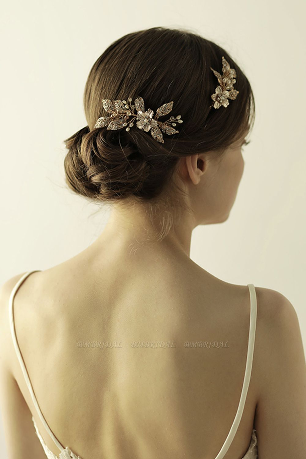 BMbridal Beautiful Alloy Rhinestone Party Combs-Barrettes Headpiece with Imitation Pearls