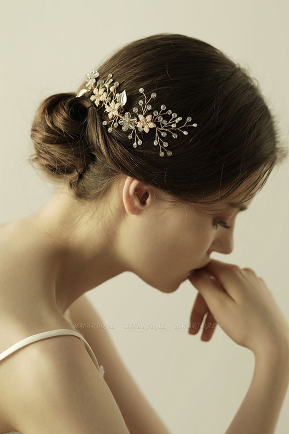 Beautiful Alloy Rhinestone Wedding Combs-Barrettes Headpiece with Imitation Pearls