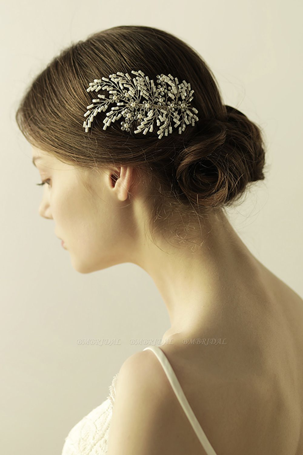 Elegant Alloy Imitation Pearls Special Occasion Combs-Barrettes Headpiece with Rhinestone