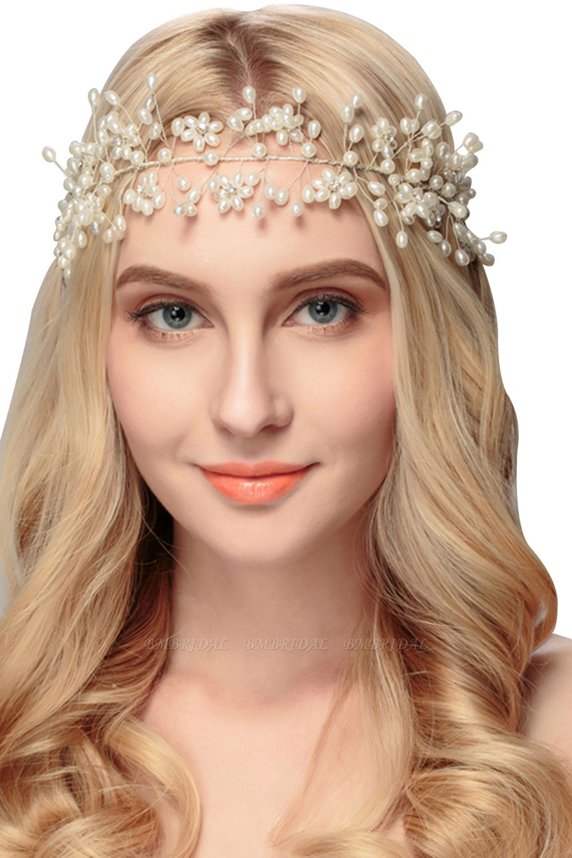 BMbridal Beautiful Alloy Imitation Pearls Party Headbands Headpiece with Rhinestone