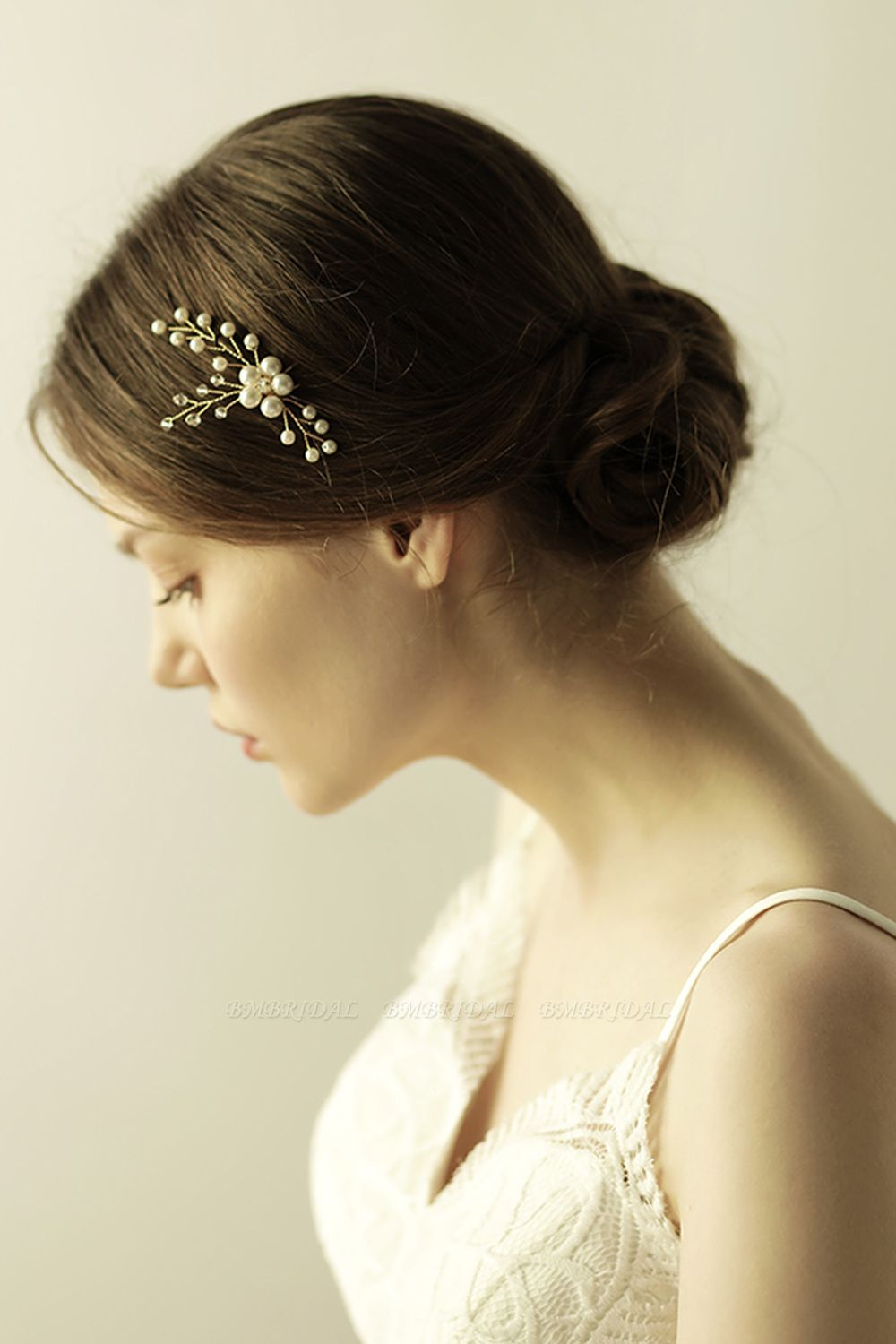 Pretty Alloy Daily Wear Hairpins Headpiece with Imitation Pearls