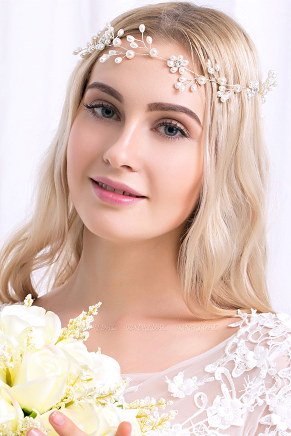 Pretty Alloy Imitation Pearls Special Occasion Party Hairpins Headpiece with Rhinestone