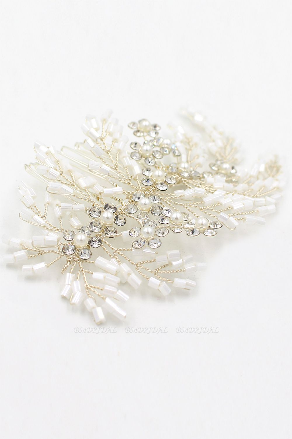 BMbridal Elegant Alloy Imitation Pearls Special Occasion Combs-Barrettes Headpiece with Rhinestone