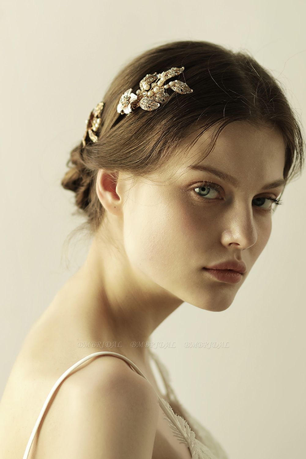Beautiful Alloy Rhinestone Party Combs-Barrettes Headpiece with Imitation Pearls