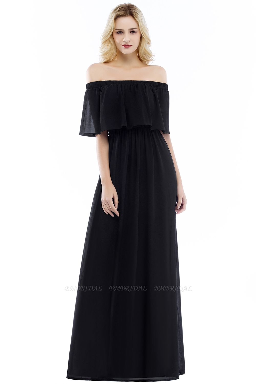 BMbridal A-line Off-the-Shoulder Chiffon Bridesmaid Dress