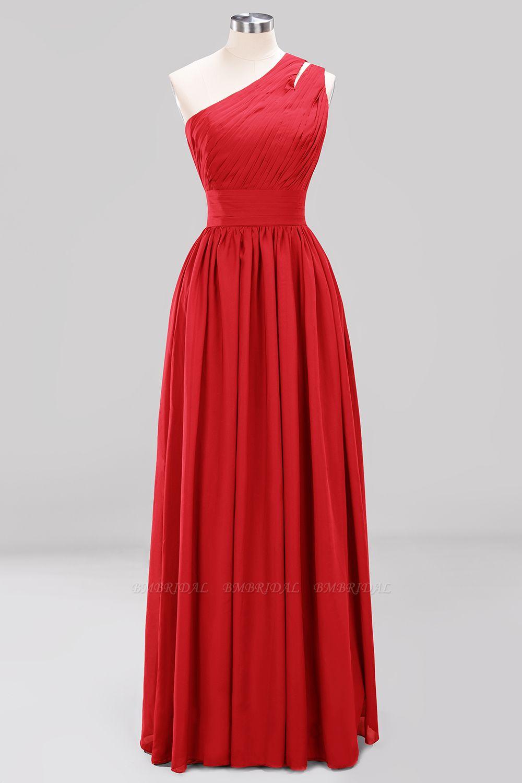 Stylish One-shoulder Sleeveless Long Junior Bridesmaid Dresses Cheap