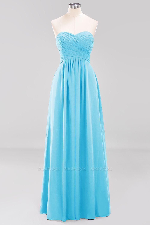 Vintage Sweetheart Long Grape Affordable Bridesmaid Dresses Online