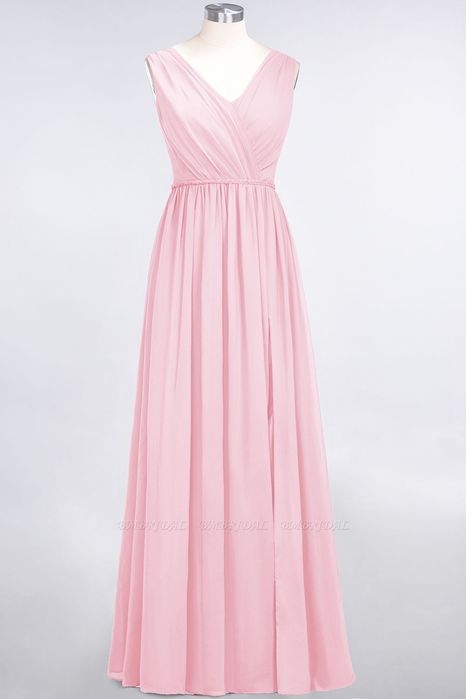 Glamorous TulleV-Neck Ruffle Burgundy Bridesmaid Dress Online