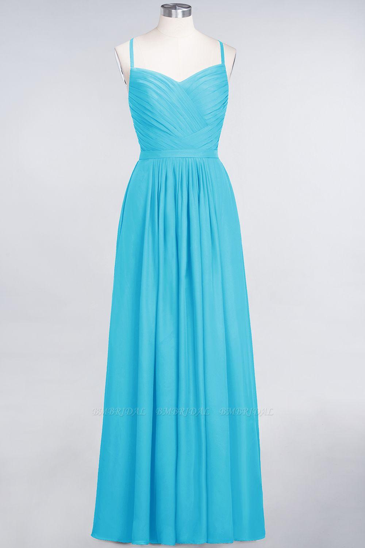 BMbridal Glamorous Spaghetti Straps Sweetheart Ruffle Chiffon Bridesmaid Dress Online