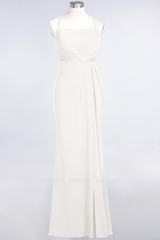 Mermaid Spandex Spaghetti Straps Ruffle Lace Bridesmaid Dress