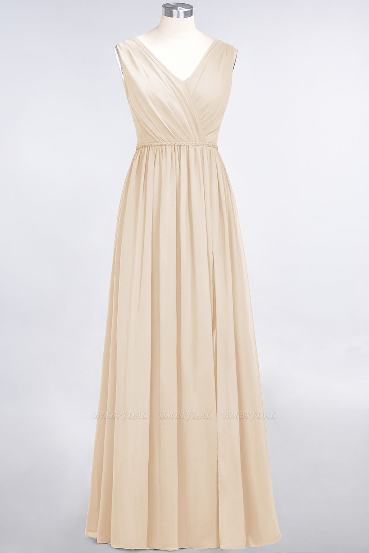 BMbridal Glamorous TulleV-Neck Ruffle Burgundy Bridesmaid Dress Online
