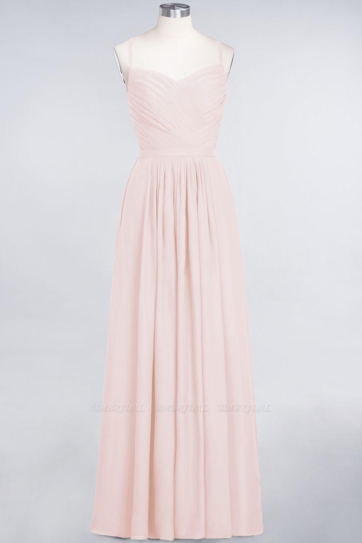 Glamorous Spaghetti Straps Sweetheart Ruffle Chiffon Bridesmaid Dress Online