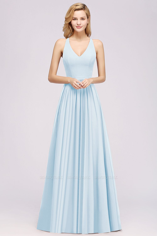 Affordable Chiffon V-Neck Sleeveless Lace Bridesmaid Dress Online