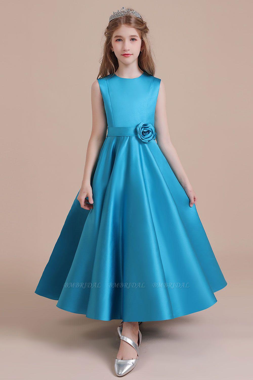 BMbridal A-Line Awesome Satin Flower Girl Dress Online