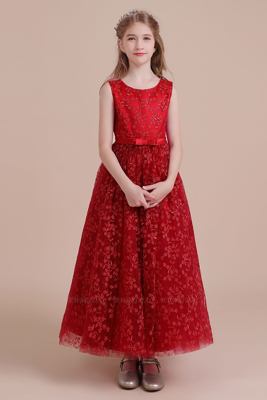 BMbridal A-Line Elegant Ankle Length Tulle Flower Girl Dress Online