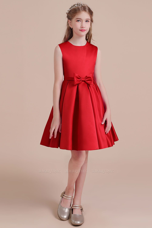 BMbridal A-Line Latest Satin Flower Girl Dress Online
