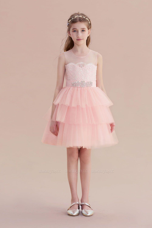 BMbridal A-Line Graceful Layered Tulle Flower Girl Dress Online