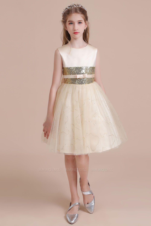 BMbridal A-Line Cute Sequins Tulle Flower Girl Dress Online