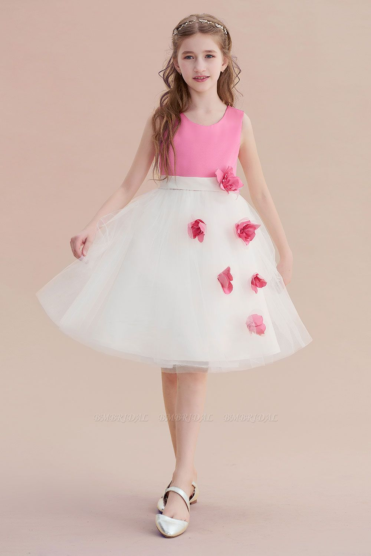 BMbridal A-Line Affordable Tulle Flower Girl Dress Online