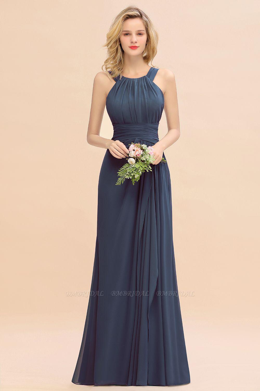Ruffles Sleeveless Long Bridesmaid Dress
