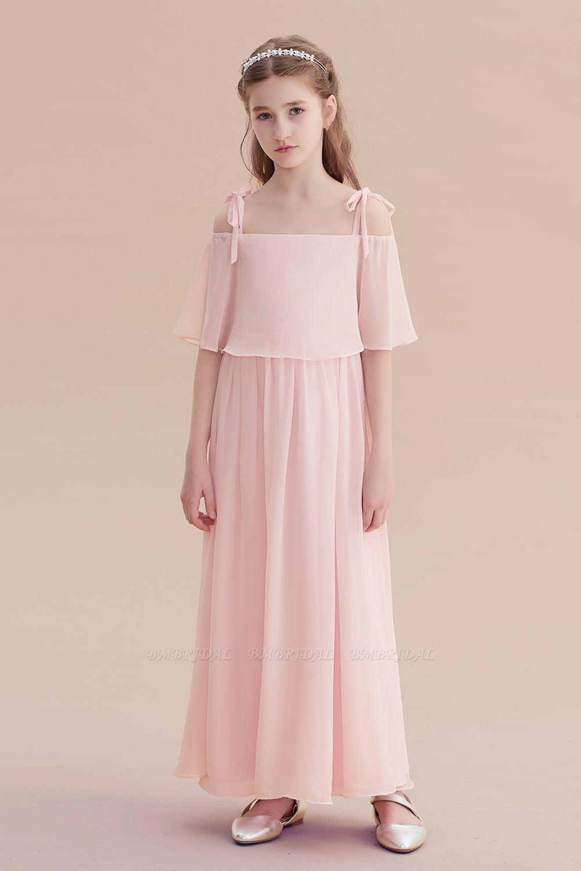 BMbridal A-Line Cold-shoulder Chiffon Flower Girl Dress Online