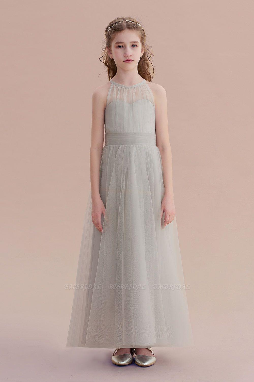BMbridal A-Line Chic Ankle Length Tulle Flower Girl Dress Online