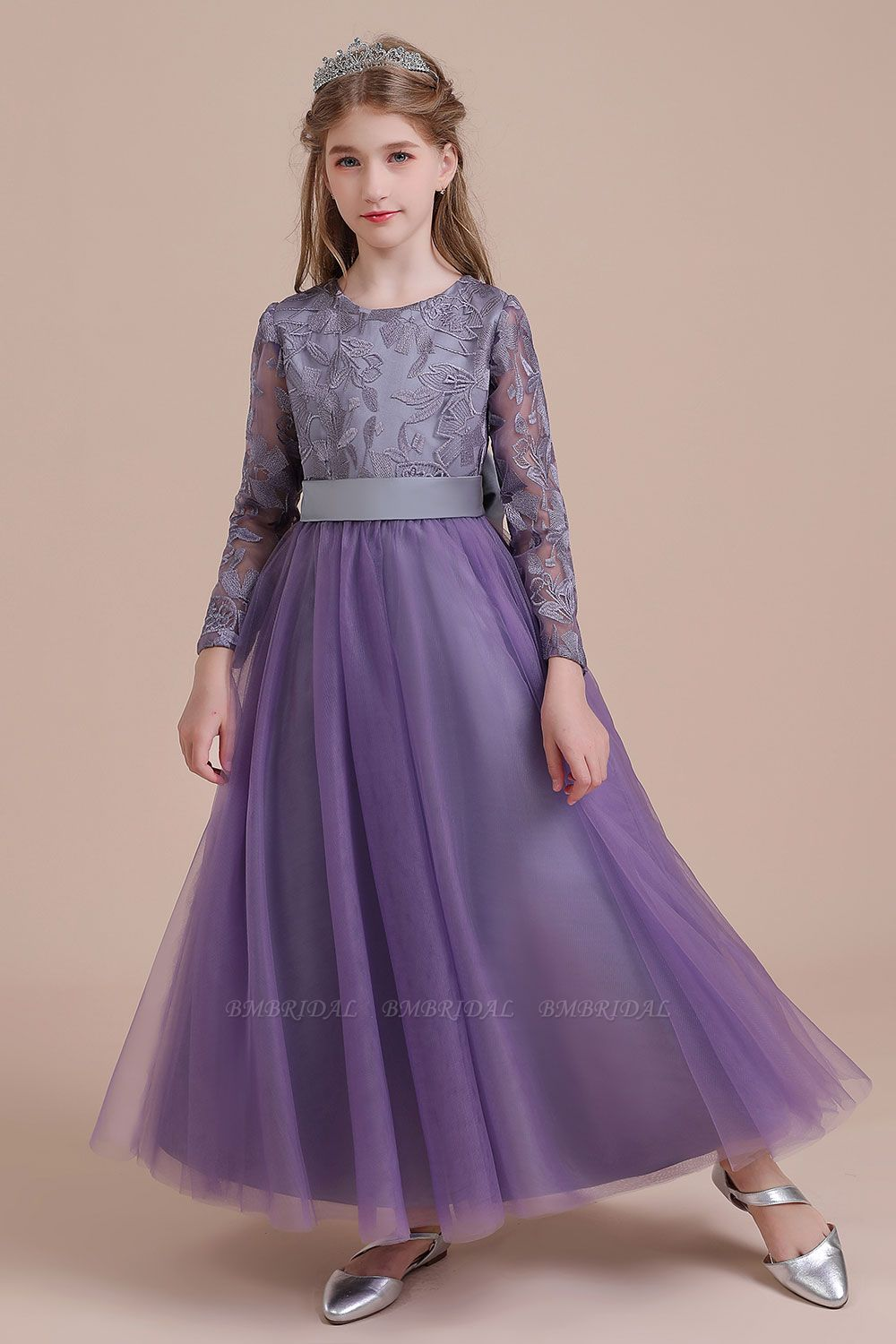 BMbridal A-Line Long Sleeve Ankle Length Flower Girl Dress On Sale