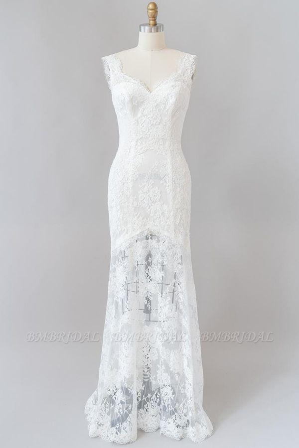 BMbridal Eye-catching Sweetheart Lace Mermaid Wedding Dress On Sale