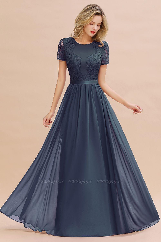 Short Sleeves Lace Bridesmaid Dress