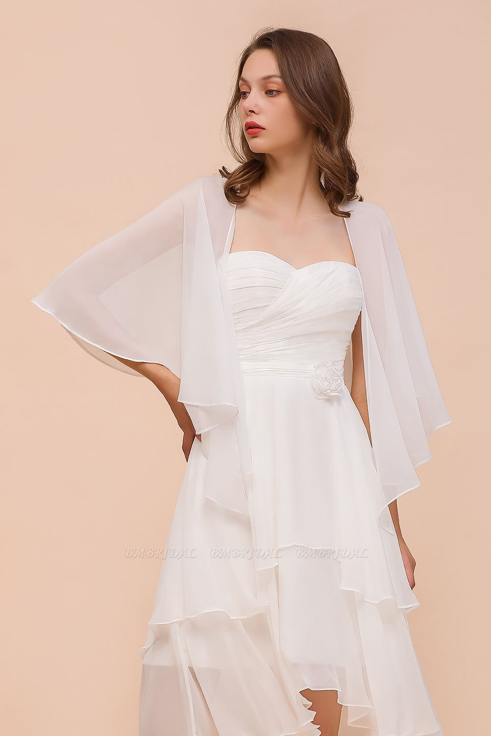 White Chiffon Special Occasions Wraps