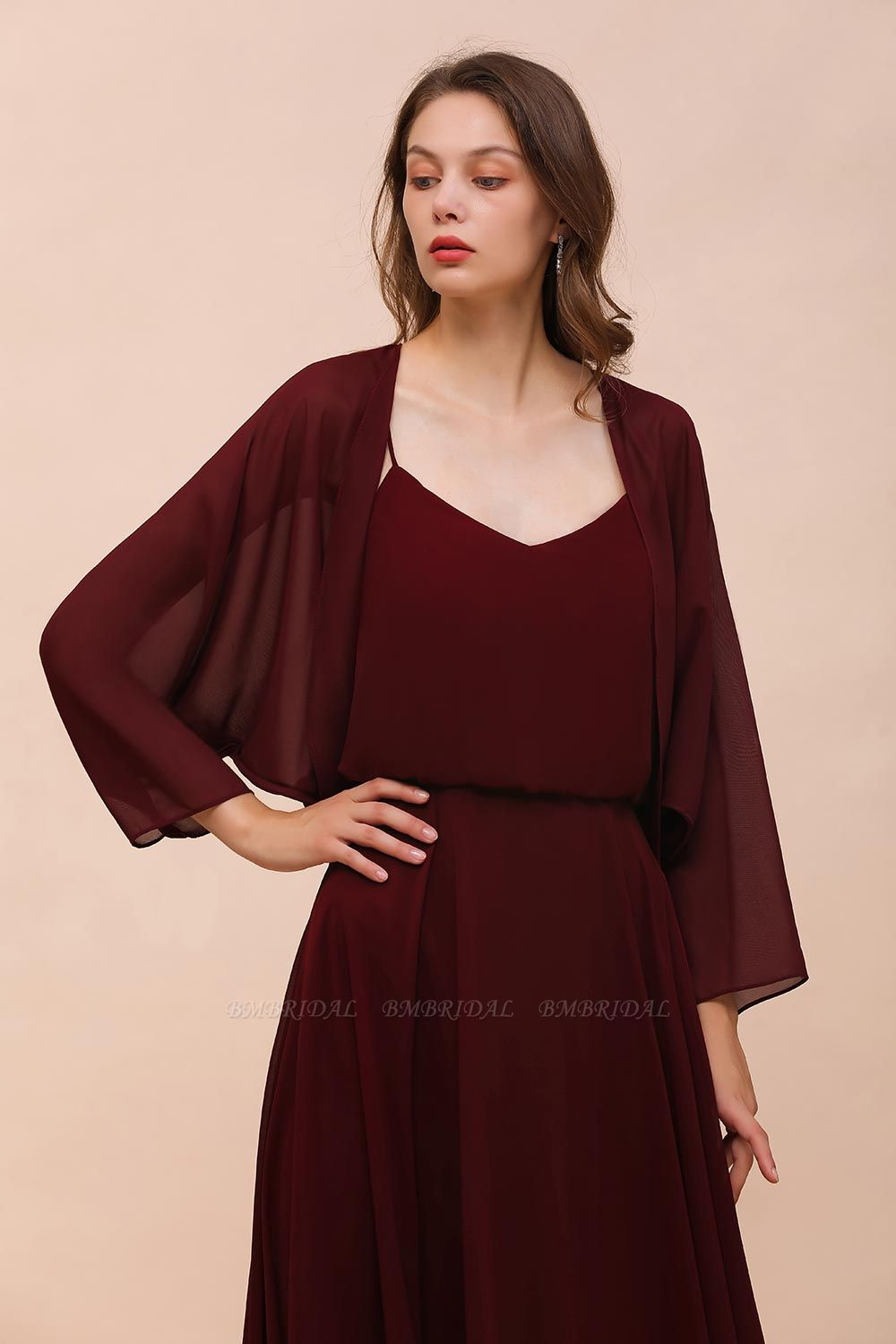 BMbridal Chiffon Long Sleeves Special Occasions Wrap