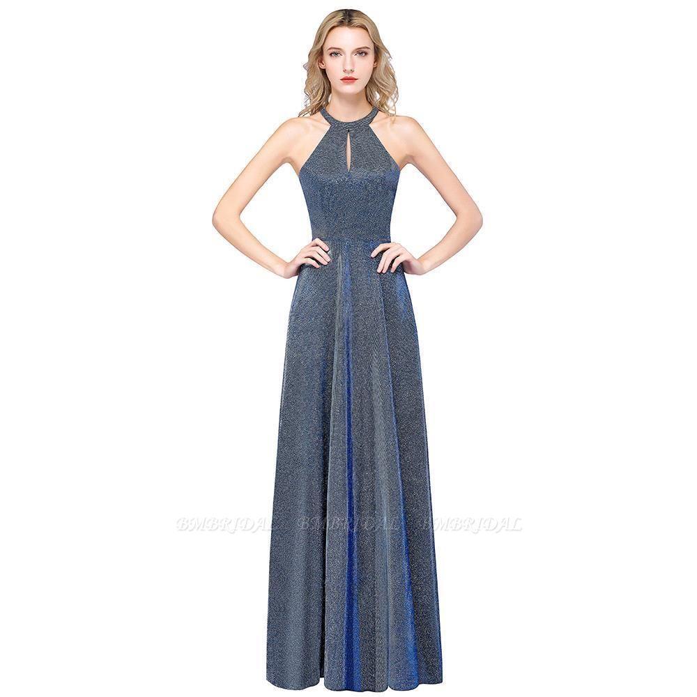 BMbridal Fashion A-Line Halter Sleeveless Evening Dress