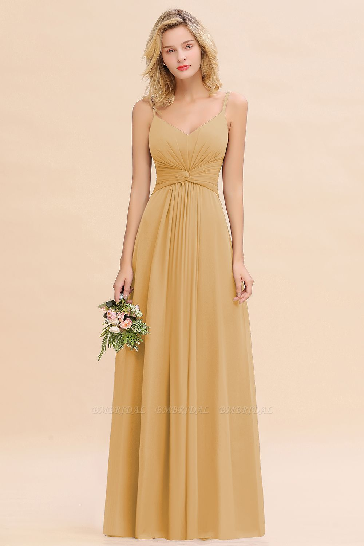 Modest Ruffle Spaghetti Straps Backless Burgundy Bridesmaid Dresses Affordable