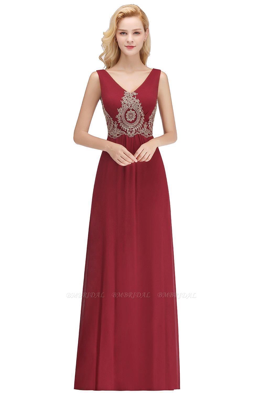 BMbridal A-Line Chiffon Lace Ruffles Evening Dress