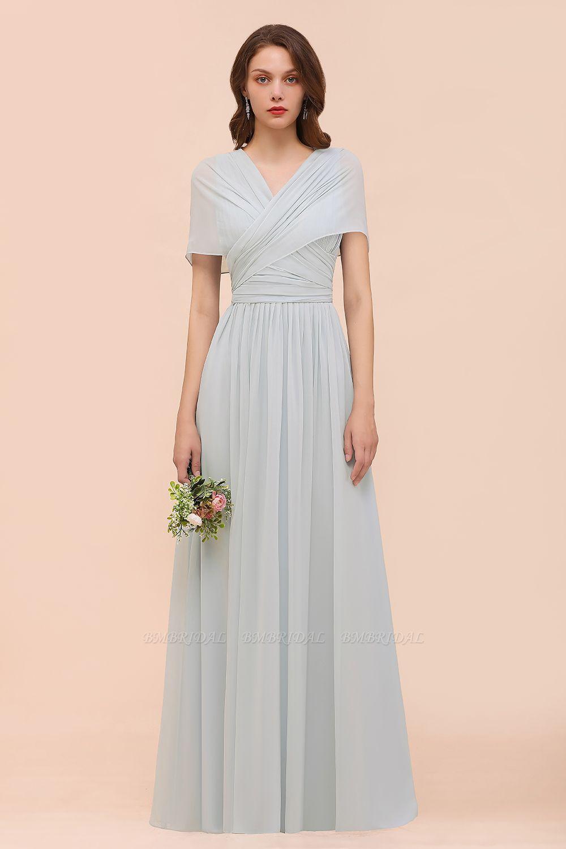 Gorgeous Ruffle Convertible Mist Chiffon Bridesmaid Dresses Online
