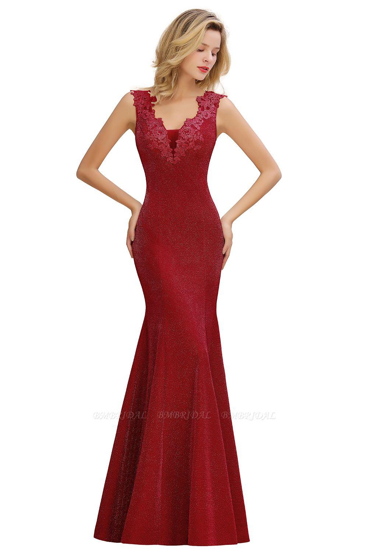 Dusty Pink Shinning Long Prom Dress Mermaid