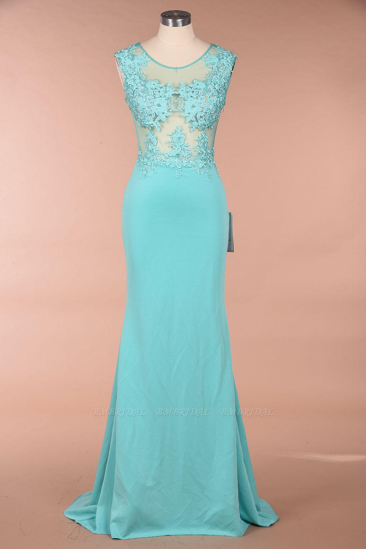 BMbridal Sexy mermaid Jewel Chiffon Lace Prom Dress Jewel Tulle Bridesmaid Dress